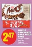 Nestlé Chocolate Bars Multi Pack - Pkg of 4