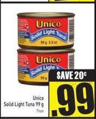 Unico Solid Light Tuna - 99 g
