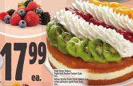 Front Street Bakery Triple Strawberry Custard Cake 1200 g
