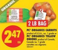 PC Organics Carrots Or PC Organics Yellow Onions - 2 Lb Bag