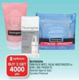Neutrogena Twin Pack Wipes - Facial Moisturizers or Acne Care Products