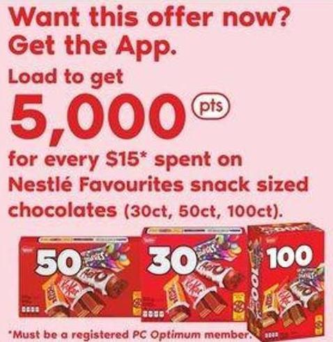 Nestlé Favourites Snack Sized Chocolates - (30ct - 50ct - 100ct)