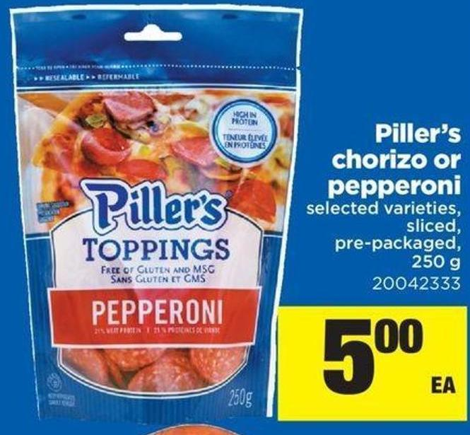 Piller's Chorizo Or Pepperoni - 250 g