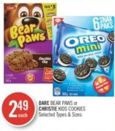 Dare Bear Paws or Christie Kids Cookies