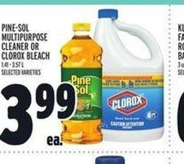 Pine‑sol Multipurpose Cleaner Or Clorox Bleach