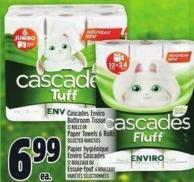 Cascades Enviro Bathroom Tissue 12 Rolls Or Paper Towels 6 Rolls