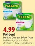 Polident Denture Cleanser Select Types