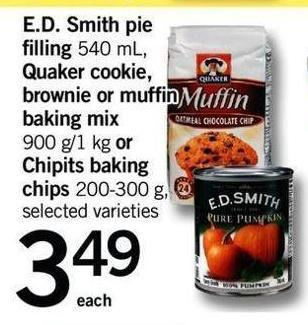 E.d. Smith Pie Filling - 540 Ml - Quaker Cookie - Brownie Or Muffin Baking Mix - 900 G/1 Kg Or Chipits Baking Chips - 200-300 G