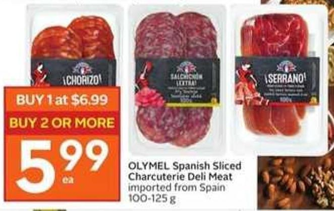 OLYMEL Spanish Sliced Charcuterie Deli Meat
