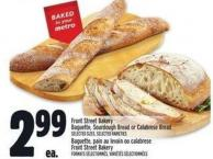 Front Street Bakery Baguette - Sourdough Bread Or Calabrese Bread