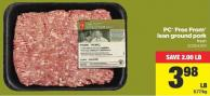 PC Free From Lean Ground Pork