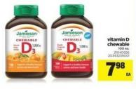 Vitamin D Chewable - 100 Ea.