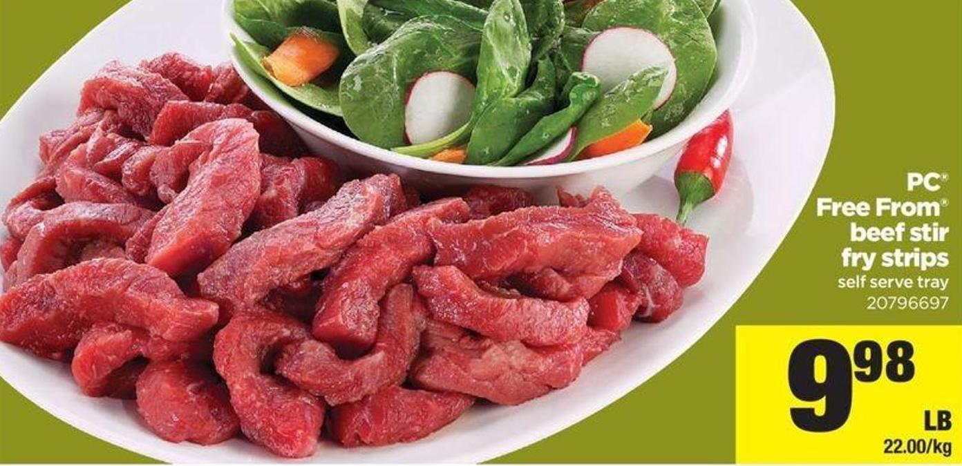 Free From Beef Stir Fry Strips