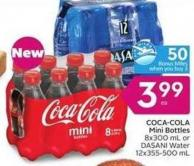 Coca-cola Mini Bottles - 50 Air Miles Bonus Miles
