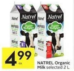 Natrel Organic Milk Selected 2 L