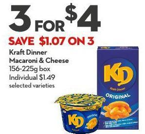 Kraft Dinner  Macaroni & Cheese 156-225g Box