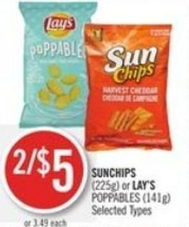 Sunchips (225g) or Lay's Poppables (141g)