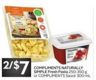 Compliments Naturally Simple Fresh Pasta