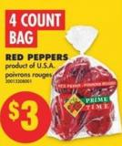 Red Peppers - 4 Count Bag