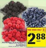 Raspberries Or Blackberries Or Blueberries