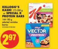 Kellogg's Kashi - 175-200 g or Special K Protein Bars - 144-180 g