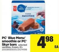 PC Blue Menu Smoothie Or PC Skyr Bars - 6's