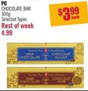 PC Chocolate Bar 300g