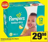 Pampers Club Size Plus Diapers - Sizes 1-6