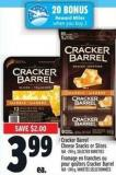 Cracker Barrel Cheese Snacks Or Slices 168 - 240 g