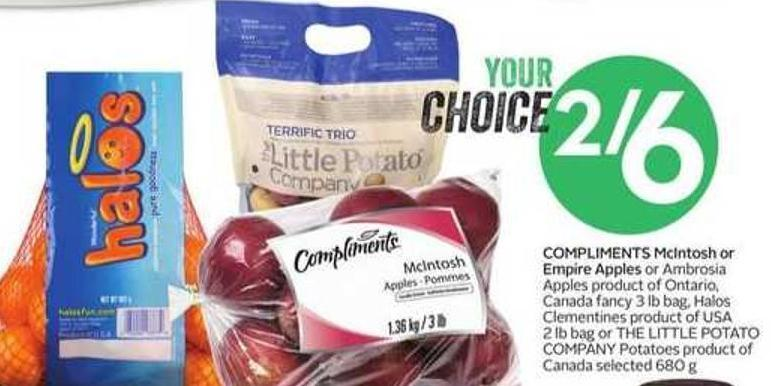 Compliments Mcintosh or Empire Apples