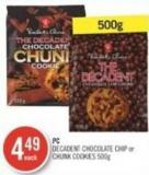 PC Decadent Chocolate Chip or Chunk Cookies 500g