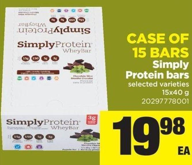 Simply Protein Bars - Case Of 15 Bars - 15x40 G