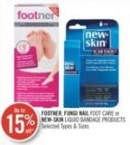 Footner - Fungi Nail Foot Care or New-skin Liquid Bandage Products