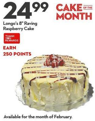 Longo's 8in Raving Raspberry Cake