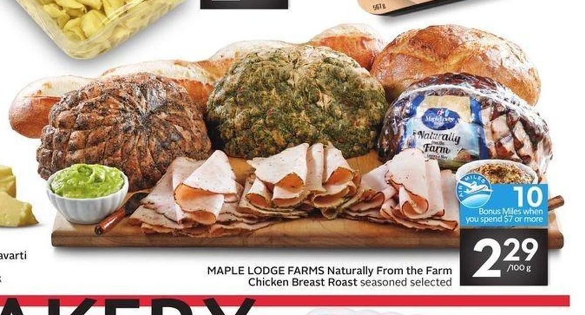 Maple Lodge Farms Naturally From The Farm Chicken Breast Roast - 10 Air Miles Bonus Miles