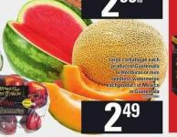 Large Cantaloupe Seedless Watermelon