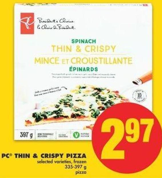 PC Thin & Crispy Pizza - 335-397 G