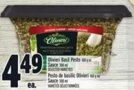 Olivieri Basil Pesto 160 G Or Sauce 300 Ml