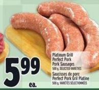 Platinum Grill Perfect Pork Pork Sausages
