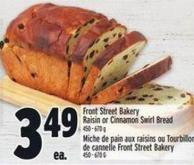 Front Street Bakery Raisin Or Cinnamon Swirl Bread