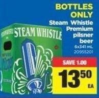 Steam Whistle Premium Pilsner Beer - 6x341 mL