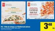 PC Thin & Crispy Or Flatbread Pizza - 335-401 g