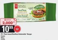 PC Plant-based Beefless Undeniable Burger - 452 g