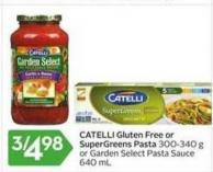 Catelli Gluten Free or Supergreens Pasta