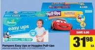Pampers Easy Ups Or Huggies Pull-ups - 82-124's