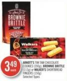 Arnott's Tim Tam Chocolate Cookies (200g) - Brownie Brittle (113g) or Walker's Shortbread Fingers (150g)