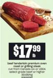 Beef Tenderloin Premium Oven Roast Or Grilling Steak