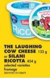 The Laughing Cow Cheese - 133 g or Silani Ricotta - 454 g