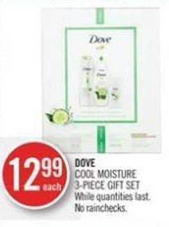 Dove Cool Moisture 3-piece Gift Set