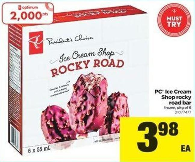 PC Ice Cream Shop Rocky Road Bar - Pkg Of 6